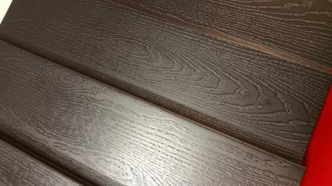 Potdeksel profielplaten mat zwart houtnerf