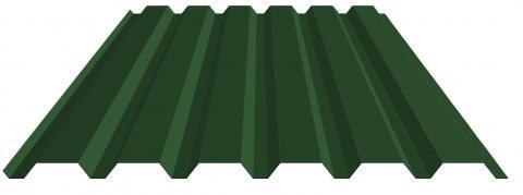 Damwand wandplaat 20/1080 donkergroen