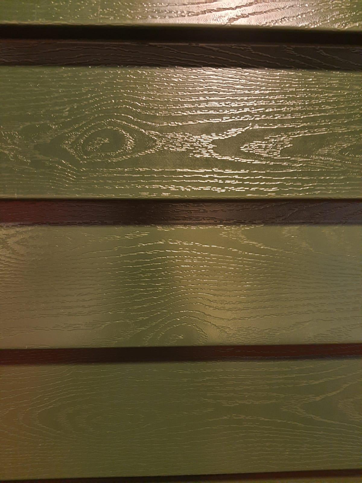 Potdekselprofielplaat groen houtnerf
