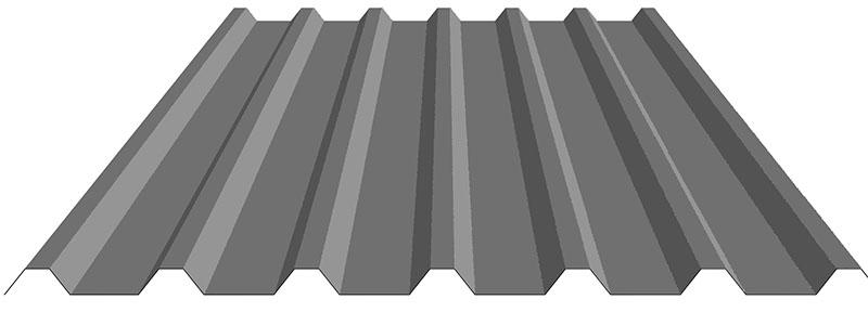 Damwand dakplaten type 32/1000 antraciet